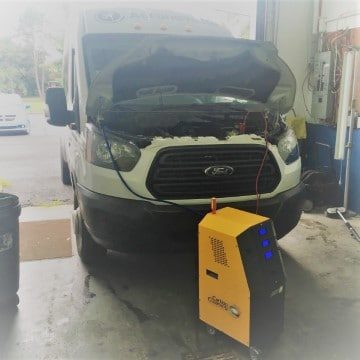 carbon cleaning ford transit aeronavette